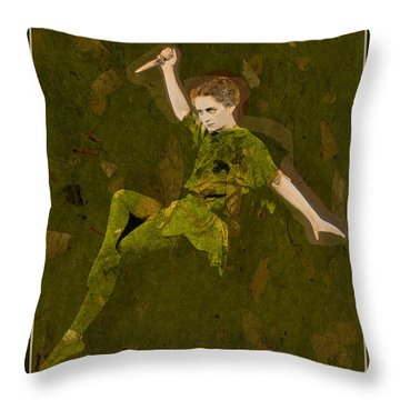 Straight On Till Morning Throw Pillow by Sarah Vernon