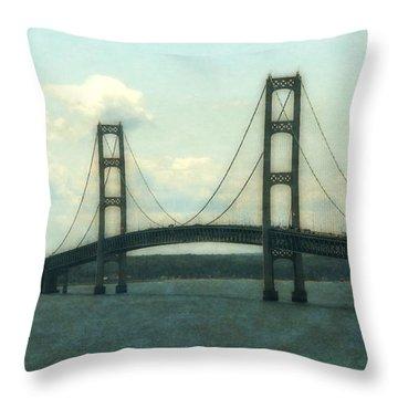 Straits Of Mackinac Throw Pillow