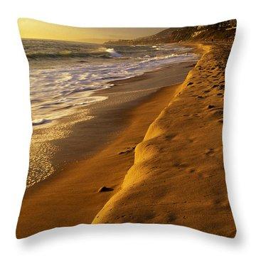 Strand Beach Dana Point At Sunset Throw Pillow