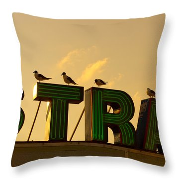 Strand Throw Pillow by Tom Gari Gallery-Three-Photography