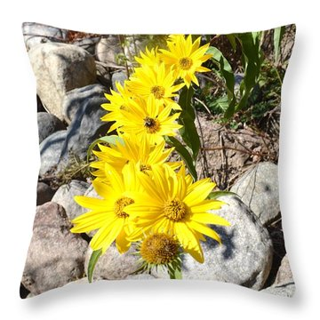 Strand Of Flowers Throw Pillow