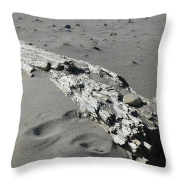 Throw Pillow featuring the photograph Stranded by Christiane Hellner-OBrien