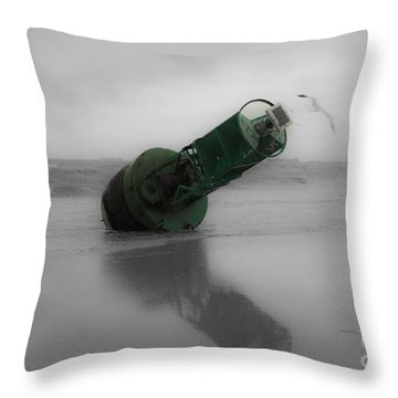 Throw Pillow featuring the photograph Stranded Too by Angela DeFrias
