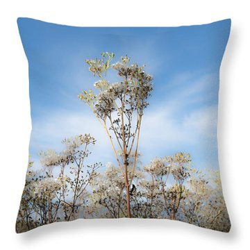 Strands Of Silver Throw Pillow