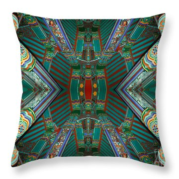 strange architecture surrealism photography - Beam Me Up VI Throw Pillow