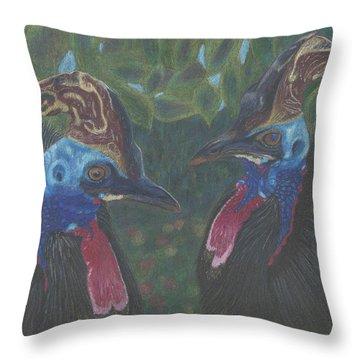 Strange Birds Throw Pillow