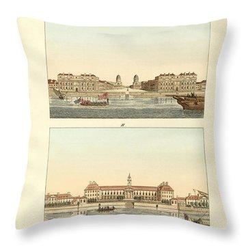 Strange Buildings In England Throw Pillow by Splendid Art Prints