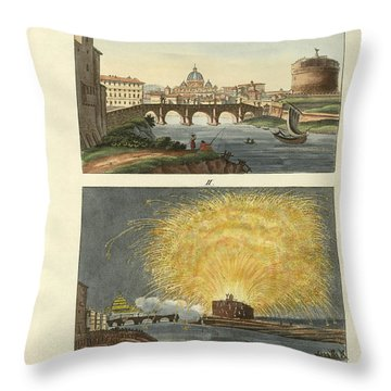 Strange Buildings In Rome Throw Pillow by Splendid Art Prints