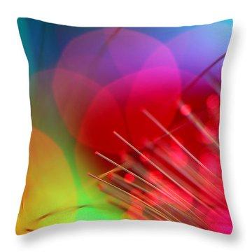 Green Abstract Art Throw Pillows