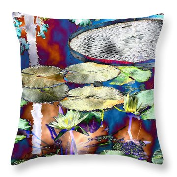 Strange Daze Throw Pillow by Bobbie Barth