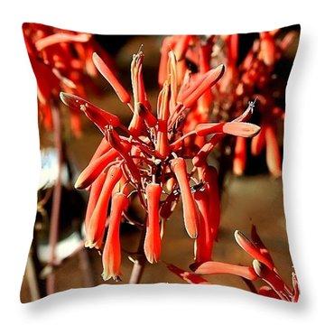 Strange Delight Throw Pillow by Debra Forand