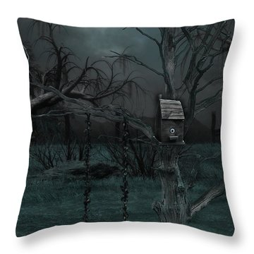 Strange Eyedea Throw Pillow by Kristie  Bonnewell