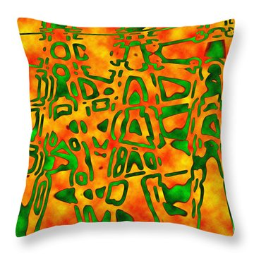 Strange Hieroglyphs Throw Pillow