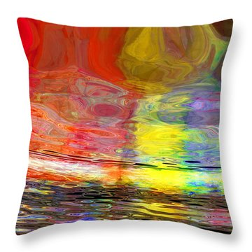 Strange Horizons Throw Pillow by Matt Lindley