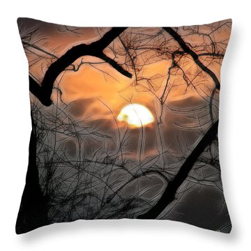 Throw Pillow featuring the photograph Strange Morning by EricaMaxine  Price