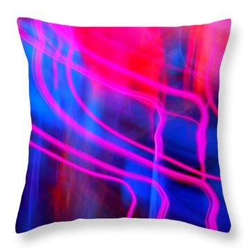 Strange Pink Throw Pillow