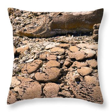 Strange Rock Throw Pillow
