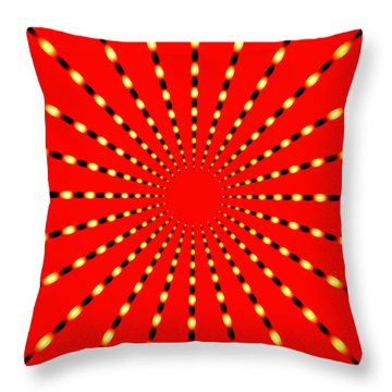 Strange Sun Rays Throw Pillow