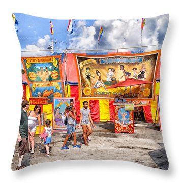 Strangest Show On Earth 2013 Throw Pillow by Joseph Duba
