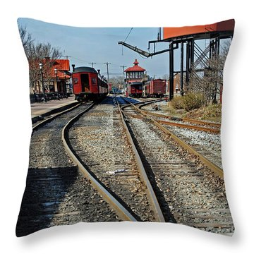 Strasburg Station Throw Pillow by Skip Willits