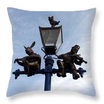 Stratford's Jewish Lamp Post Throw Pillow by Terri Waters