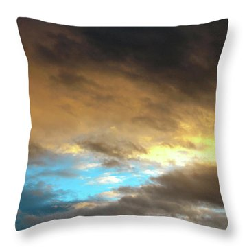 Stratus Clouds At Sunset Bring Serenity Throw Pillow