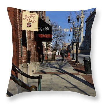 Strawberry And Company Throw Pillow by Trish Tritz