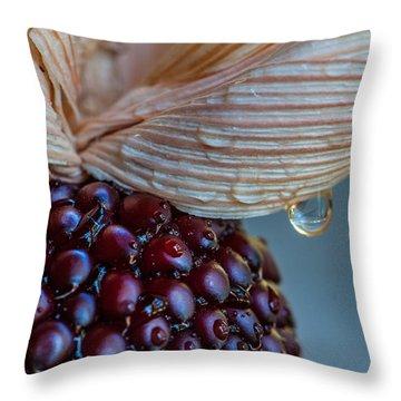Strawberry Corn Throw Pillow