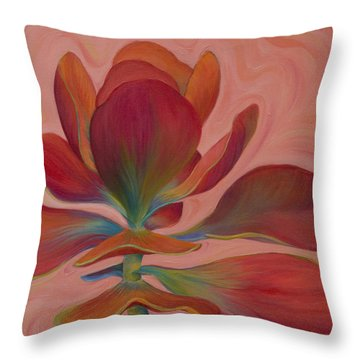 Throw Pillow featuring the painting Strawberry Flapjack by Sandi Whetzel