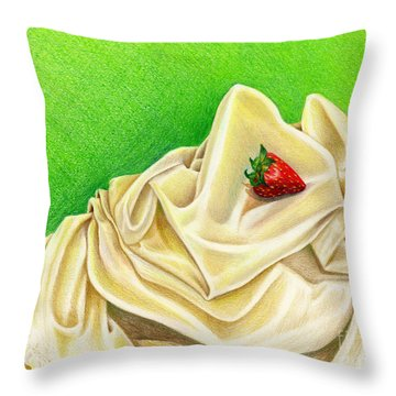Strawberry Passion Throw Pillow