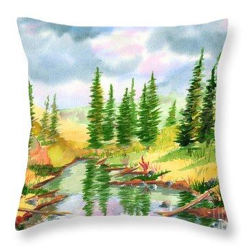 Strawberry Reservoir 2 Throw Pillow