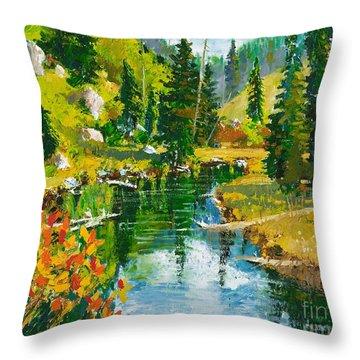 Strawberry Reservoir Throw Pillow