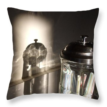 Throw Pillow featuring the photograph Straws by Lyric Lucas