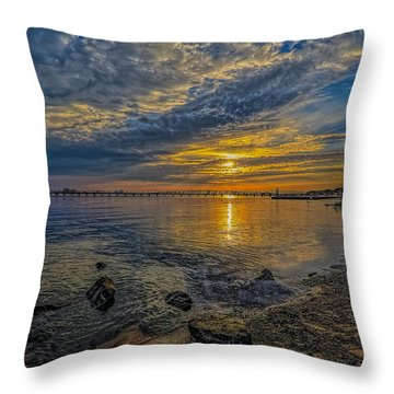 Streak Of Gold Throw Pillow by Brian Wright