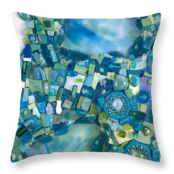 Stream Of Life Throw Pillow by Valerie Fuqua