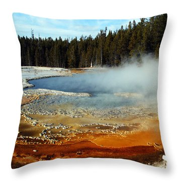 Streaming Colours Throw Pillow by Tarey Potter