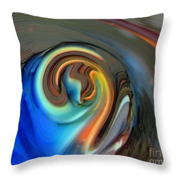 Streaming In Color Throw Pillow