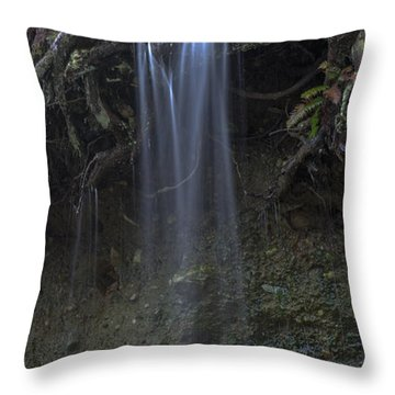 Streaming Mist Throw Pillow by Rod Wiens