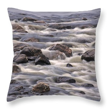 Streaming Rocks Throw Pillow