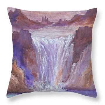 Streams In The Desert Throw Pillow