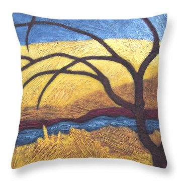 Streamside Passage Throw Pillow
