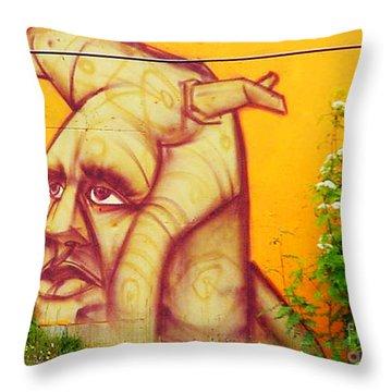 Street Art 3 Throw Pillow