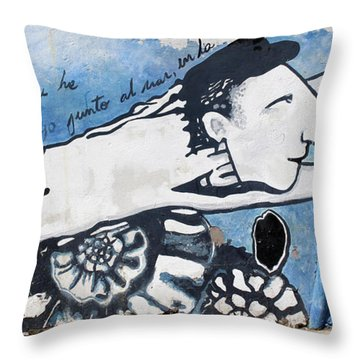Street Art Santiago Chile Throw Pillow by Kurt Van Wagner