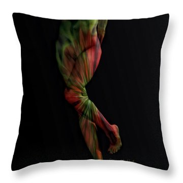 Street Artist Throw Pillow