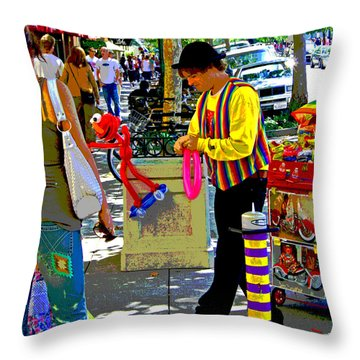 Street Balloon Art Throw Pillow