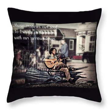 Street Beats Inspiration Throw Pillow by Melanie Lankford Photography