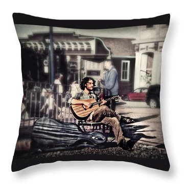 Street Beats Throw Pillow by Melanie Lankford Photography