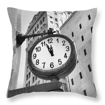 Street Clock Throw Pillow