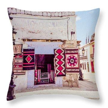 Street Corner In Oaxaca Throw Pillow