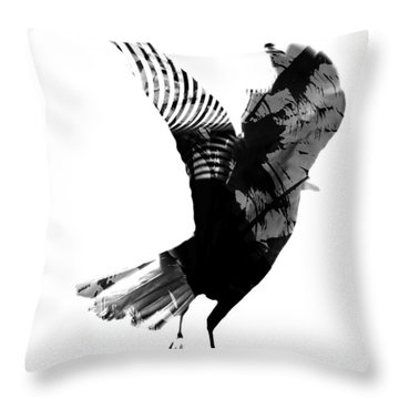 Street Crow Throw Pillow